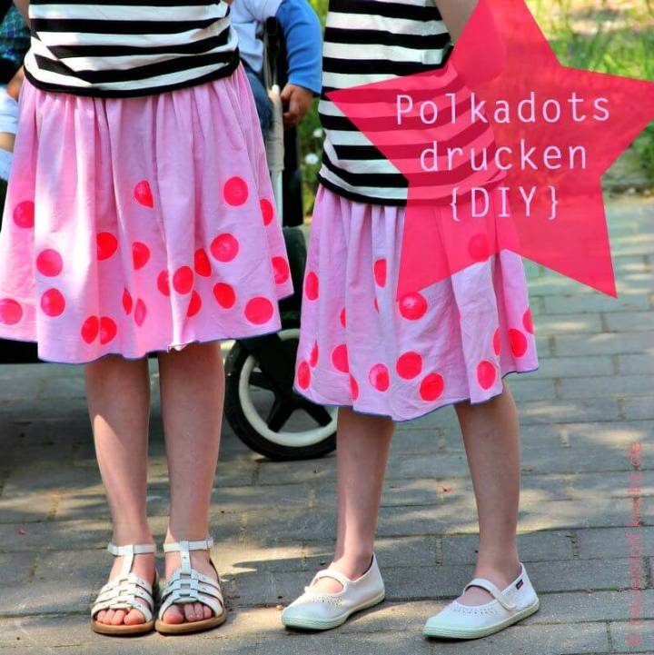DIY Polka Dot Punkte Drucken