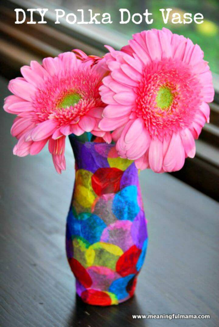 DIY Polka Dot Vase Craft