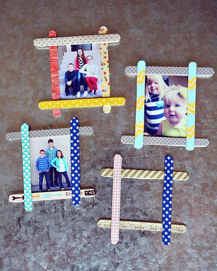 DIY Popsicle Stick Frames - Mothers Day Gifts