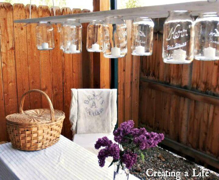 DIY Rustic Mason Jar Chandelier Is Perfect For Any Occasion