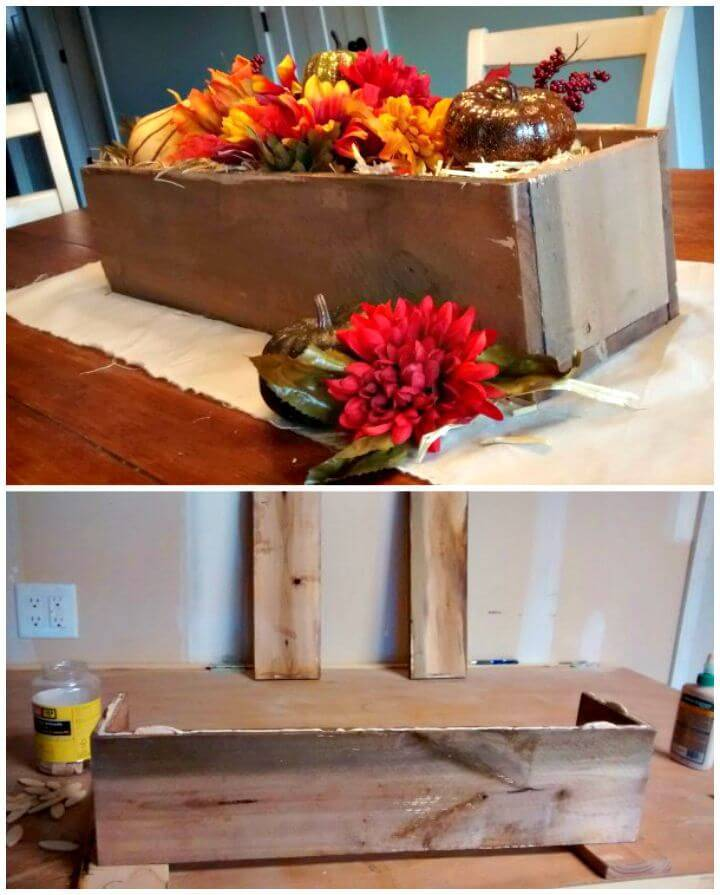 Diy wooden box centerpiece ideas full tutorials