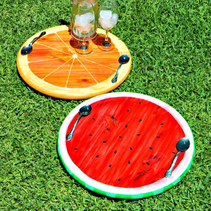 Colorful DIY Summer Fruit Trays