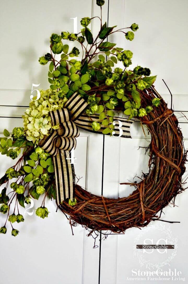 DIY Summer Initial Wreath
