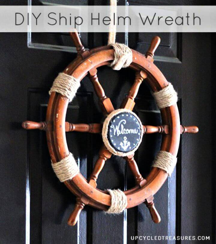 DIY Up-cycle A Ship Helm Into A Nautical Wreath