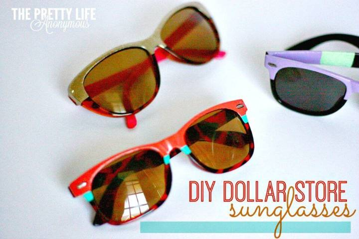 DIY Upcycled Dollar Store Sunglasses