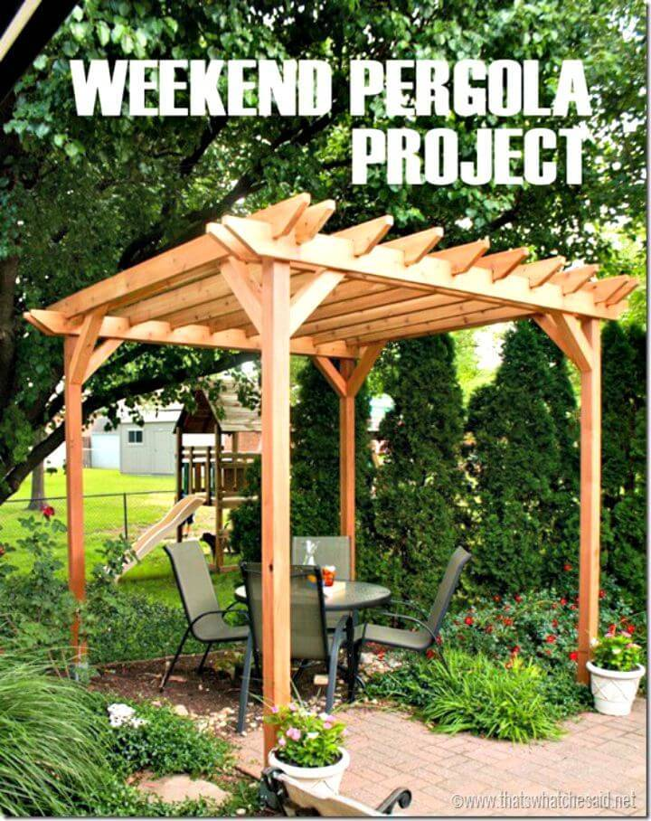 DIY Weekend Pergola Plan