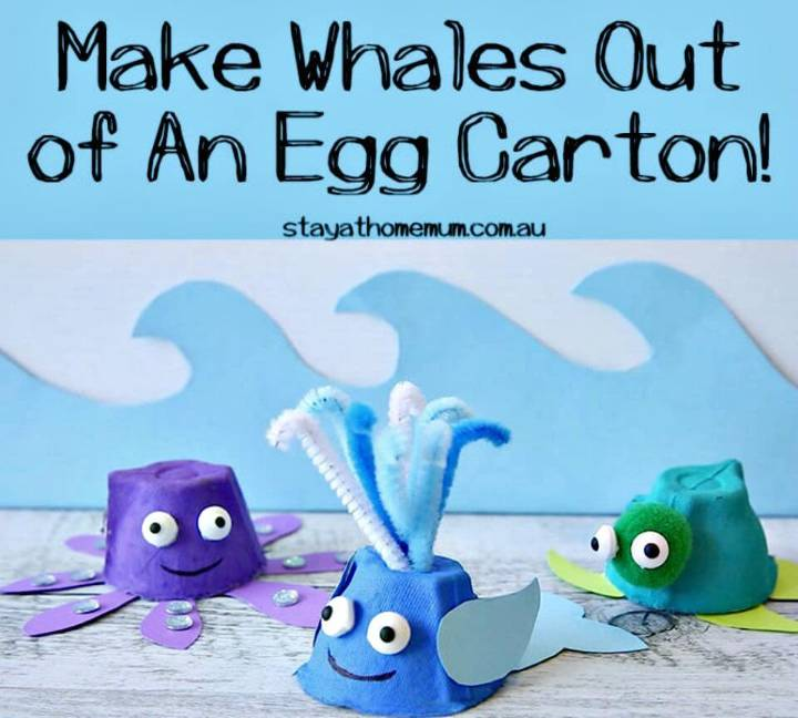 DIY Whales Out of An Egg Carton