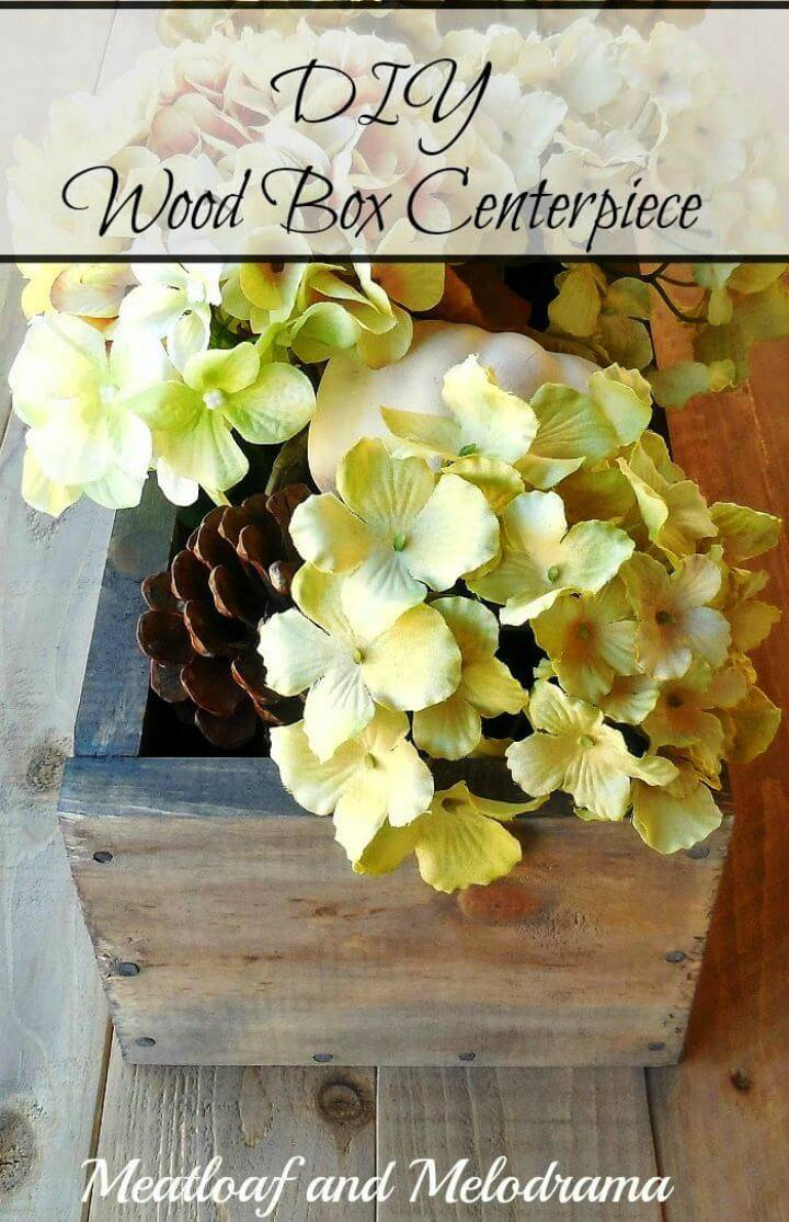 How to Build Wood Box Centerpiece Tutorial