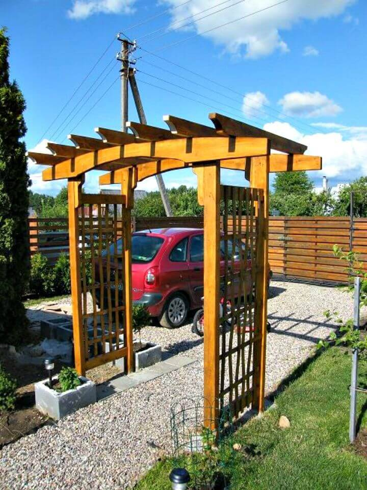 How to DIY Wooden Arbor Project