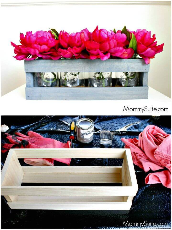 How to Make Wooden Box Centerpiece Step By Step Tutorial