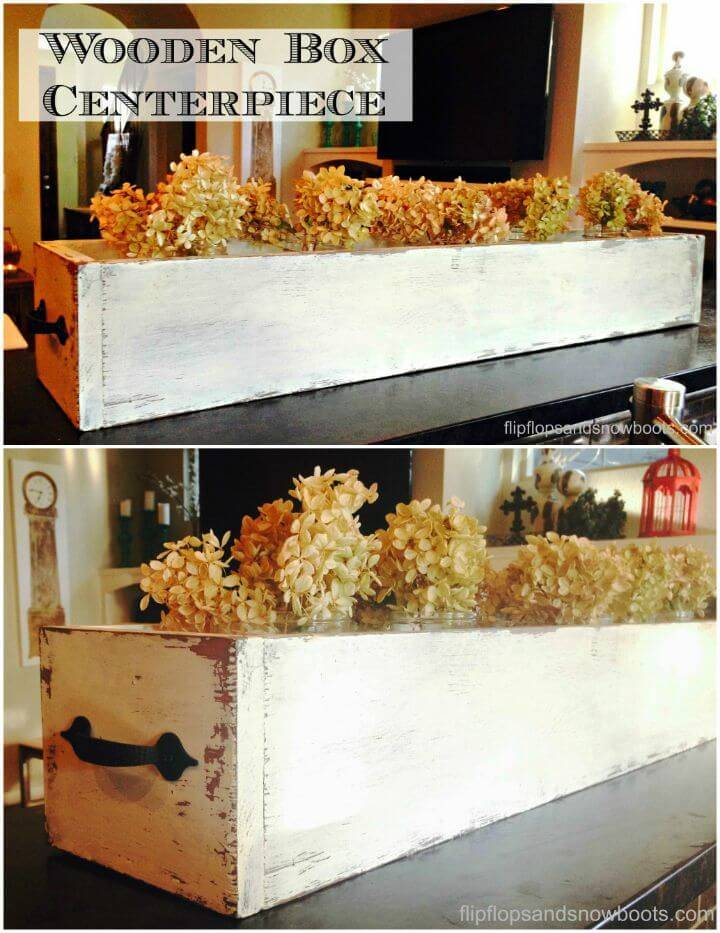 Build Your Own Wooden Box Centerpiece Tutorial