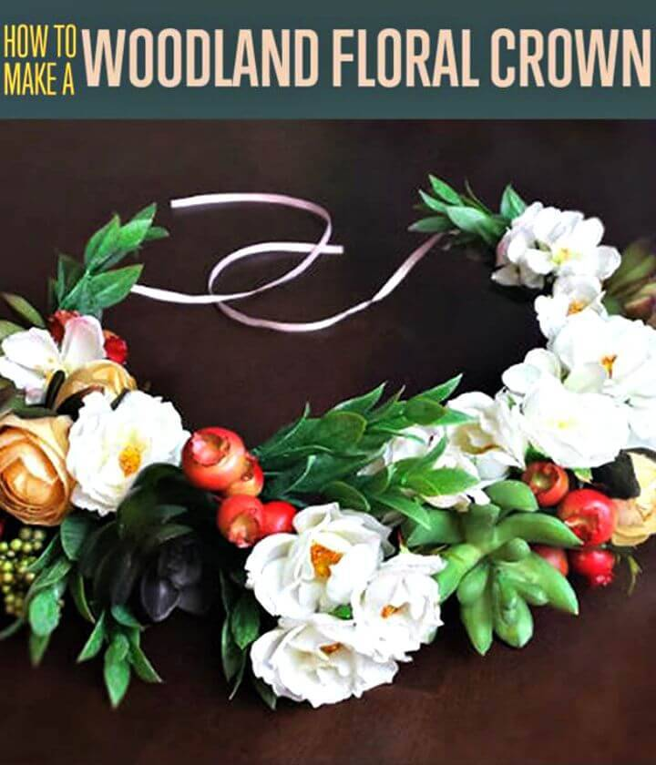 DIY Woodland Flower Crown