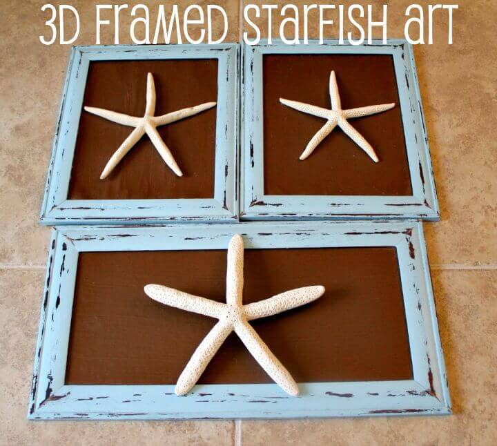 Easy DIY 3D Framed Starfish Art