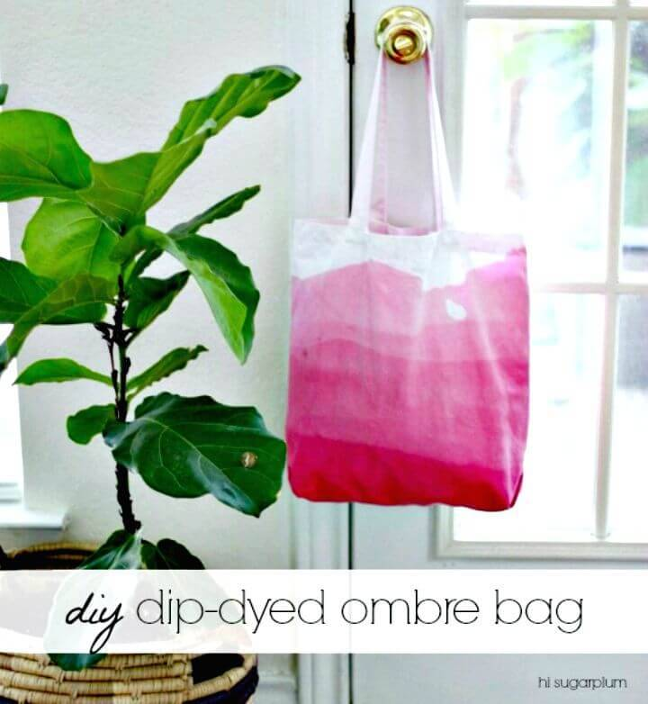 Easy DIY Dip-dyed Ombre Bag - Mothers Day Gifts