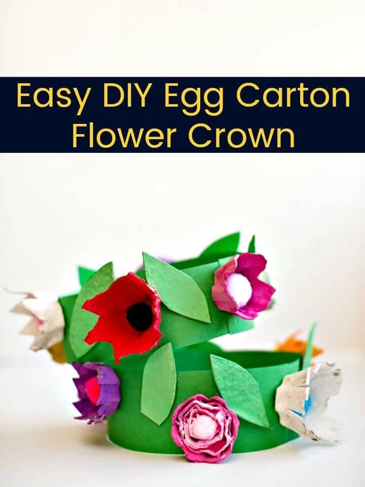 Easy DIY Egg Carton Flower Crown