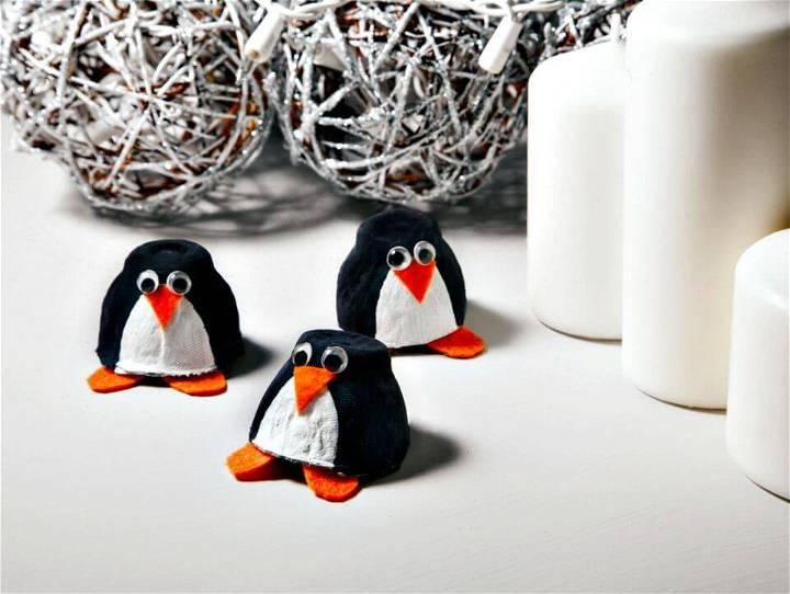 How To Make Egg Carton Penguin for Kids - DIY