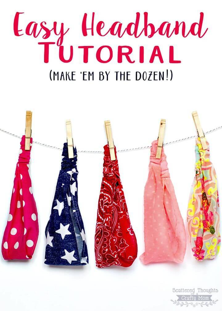 Easy DIY Elastic Headband Tutorial