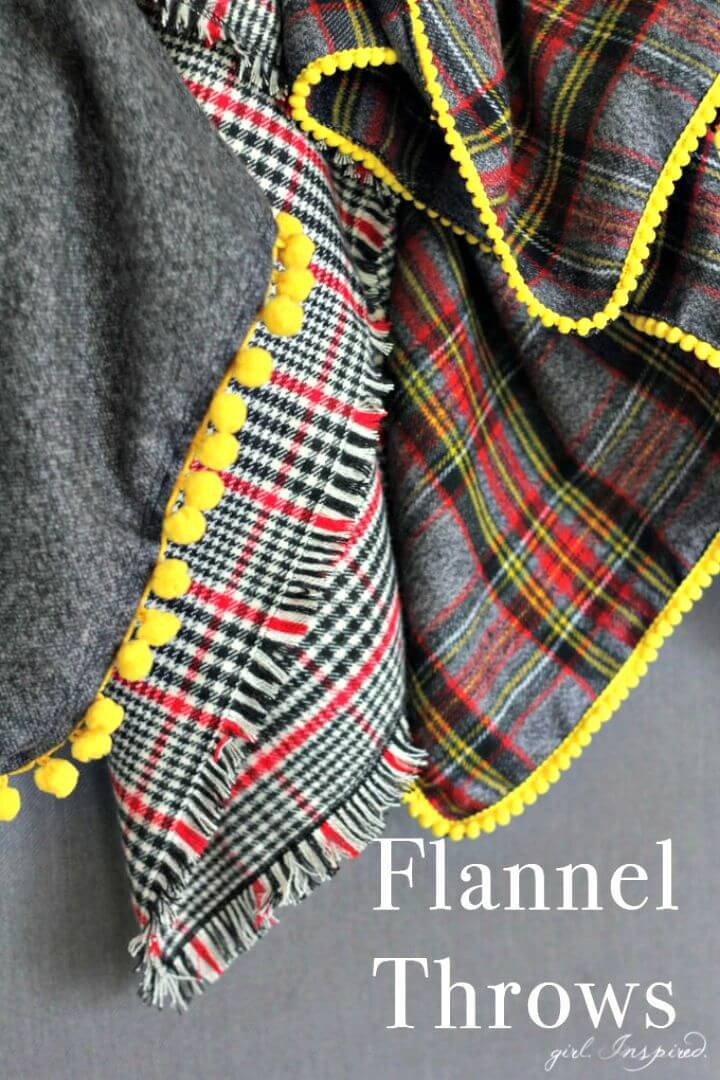 Super Easy DIY Flannel Throw Blankets