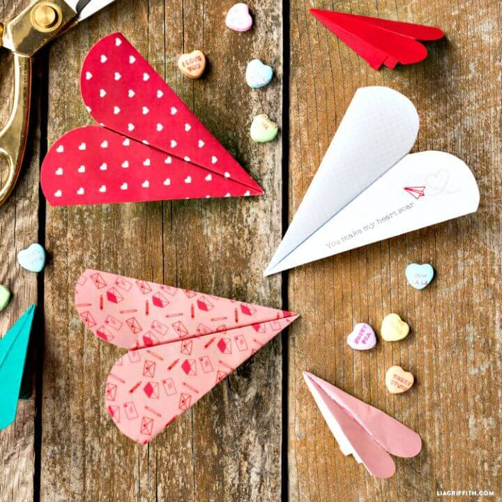 Adorable DIY Heart Paper Airplane