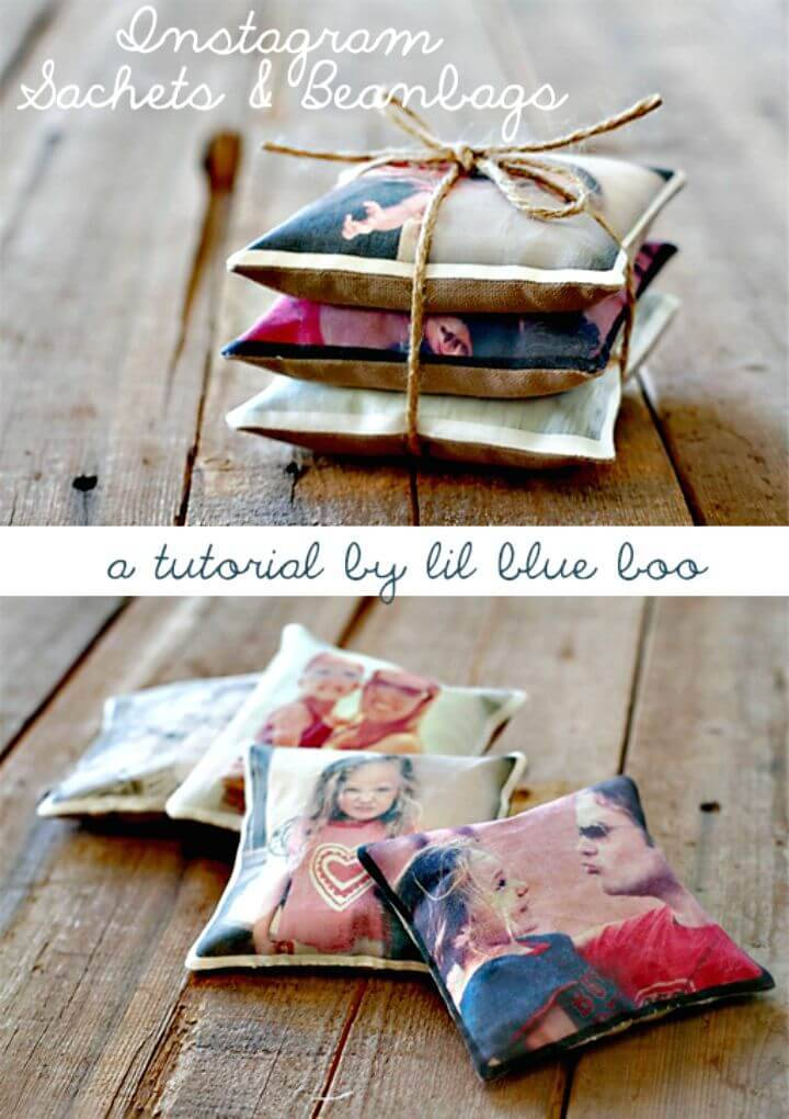 Easy DIY Instagram Sachets And Beanbags - Mothers Day Gifts
