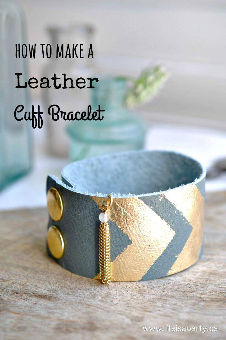 Easy DIY Leather Cuff Bracelet