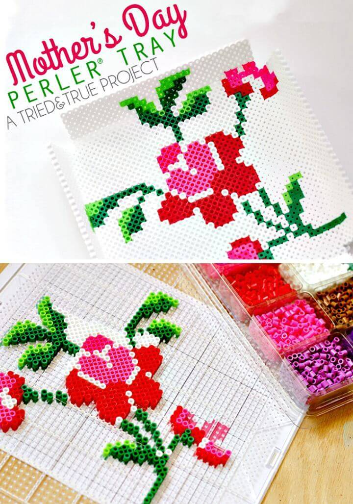 Easy DIY Mother's Day Perler Bead Tray