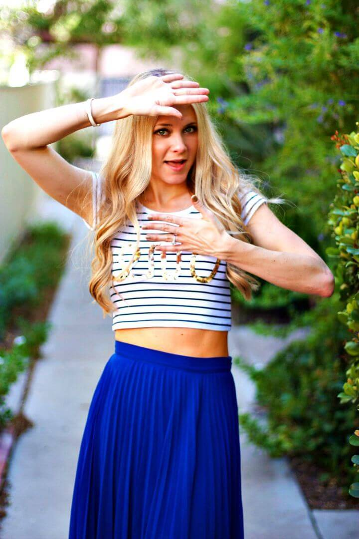 DIY No Sew Sequin Graphic Crop