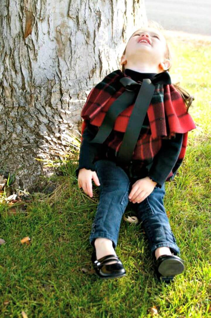 Easy DIY No-sew Flutter Cape With Armholes for Kids