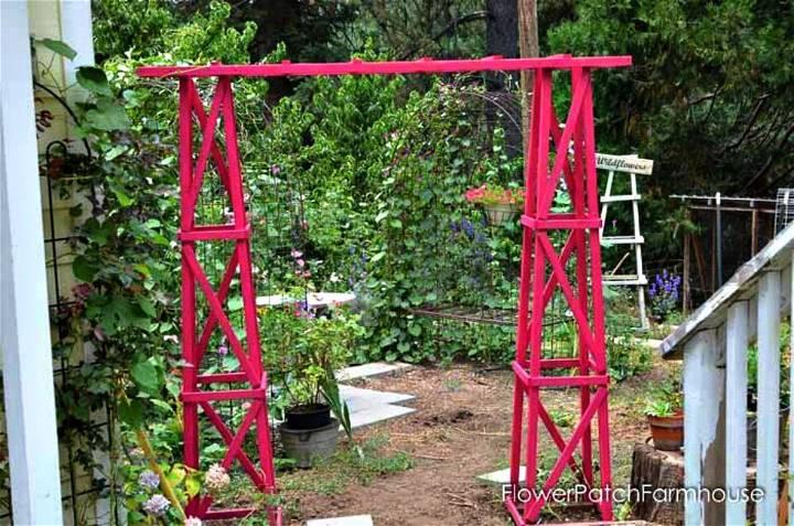 Easy DIY Obelisk Arbor