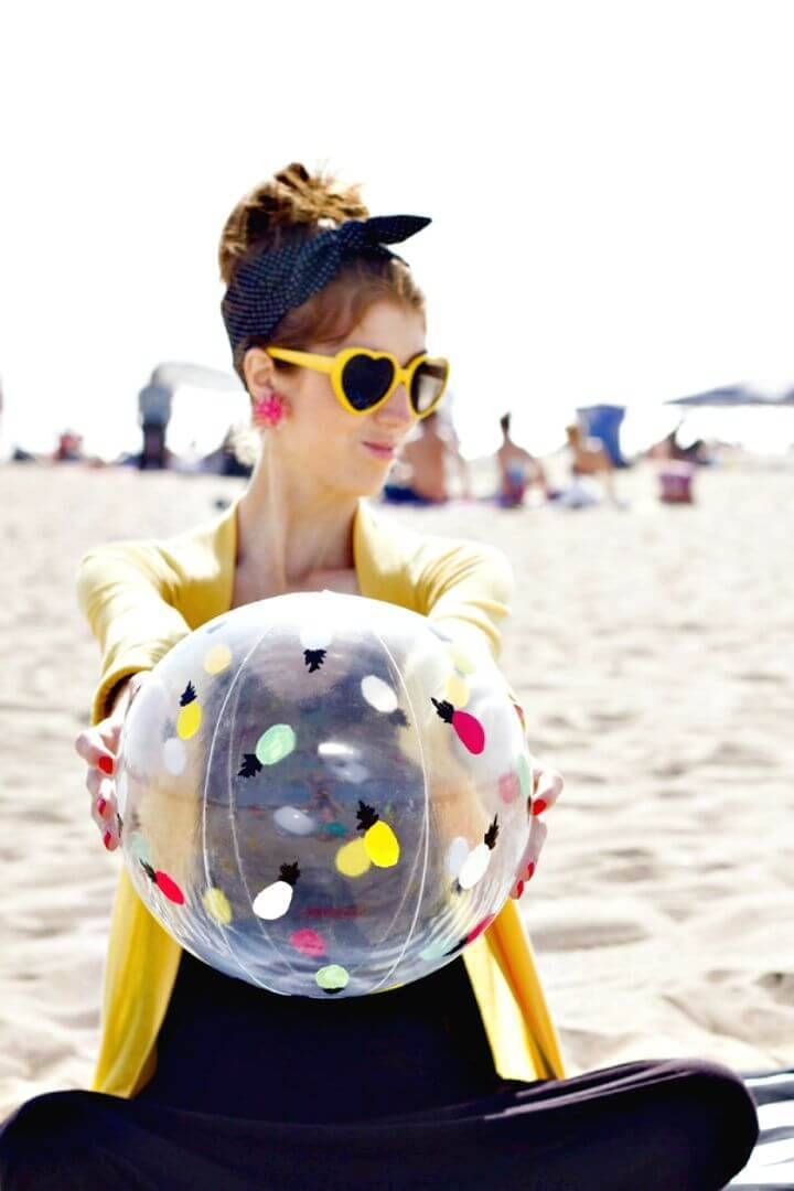 DIY Painted Beach Ball Makeover