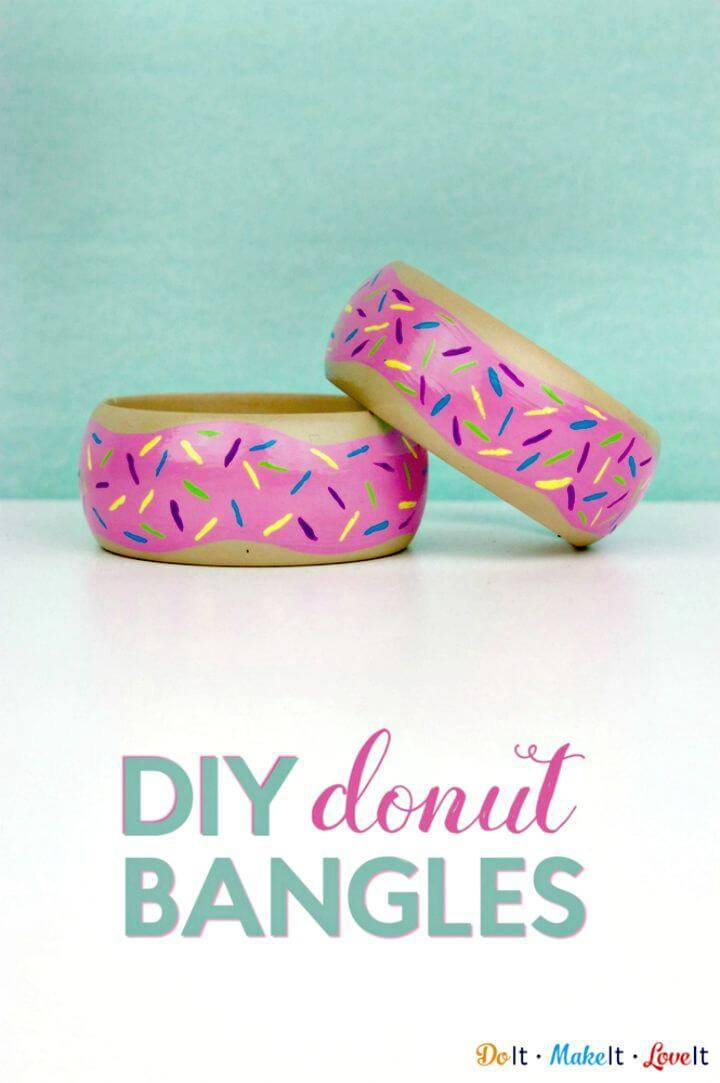 DIY Painted Donuts Bangles
