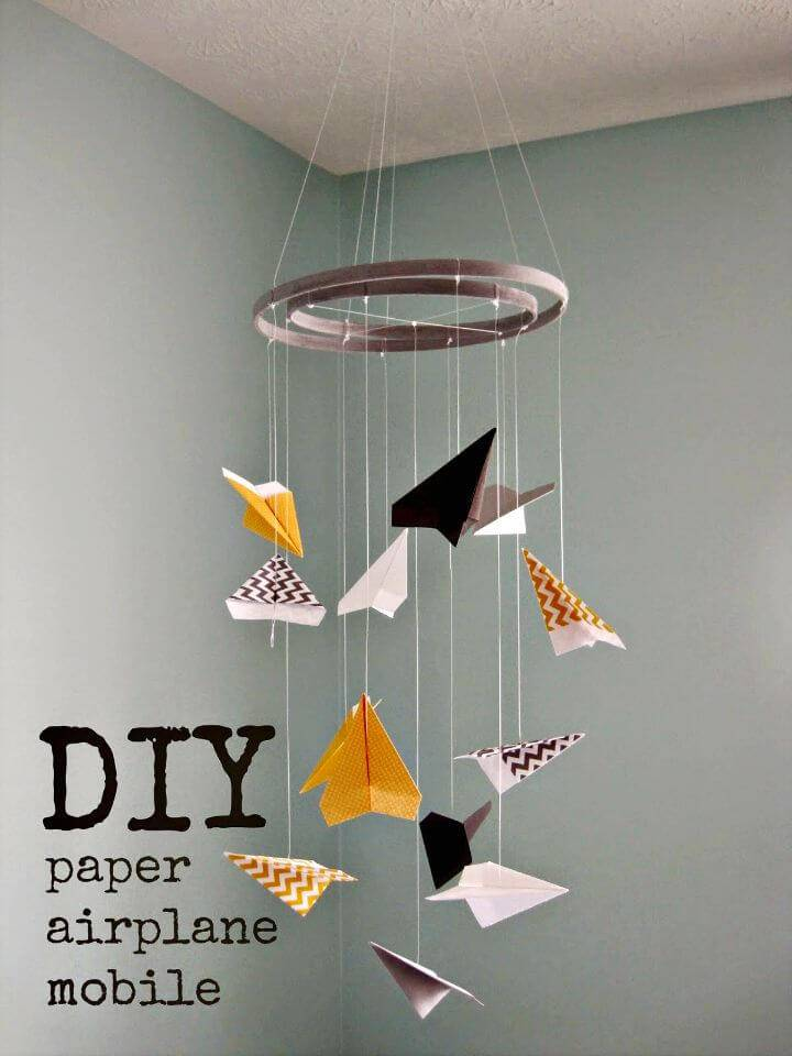 How to Make Paper Airplane Mobile