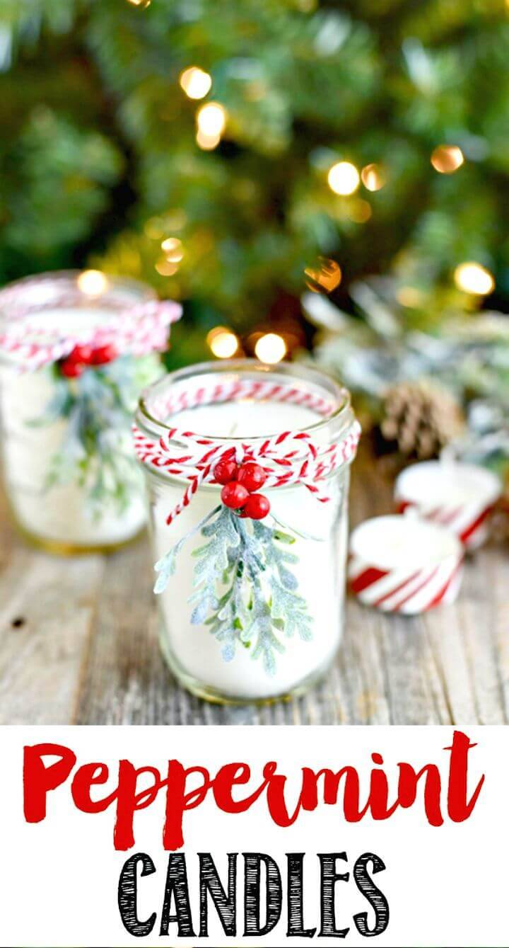 Easy DIY Peppermint Mason Jar Candles
