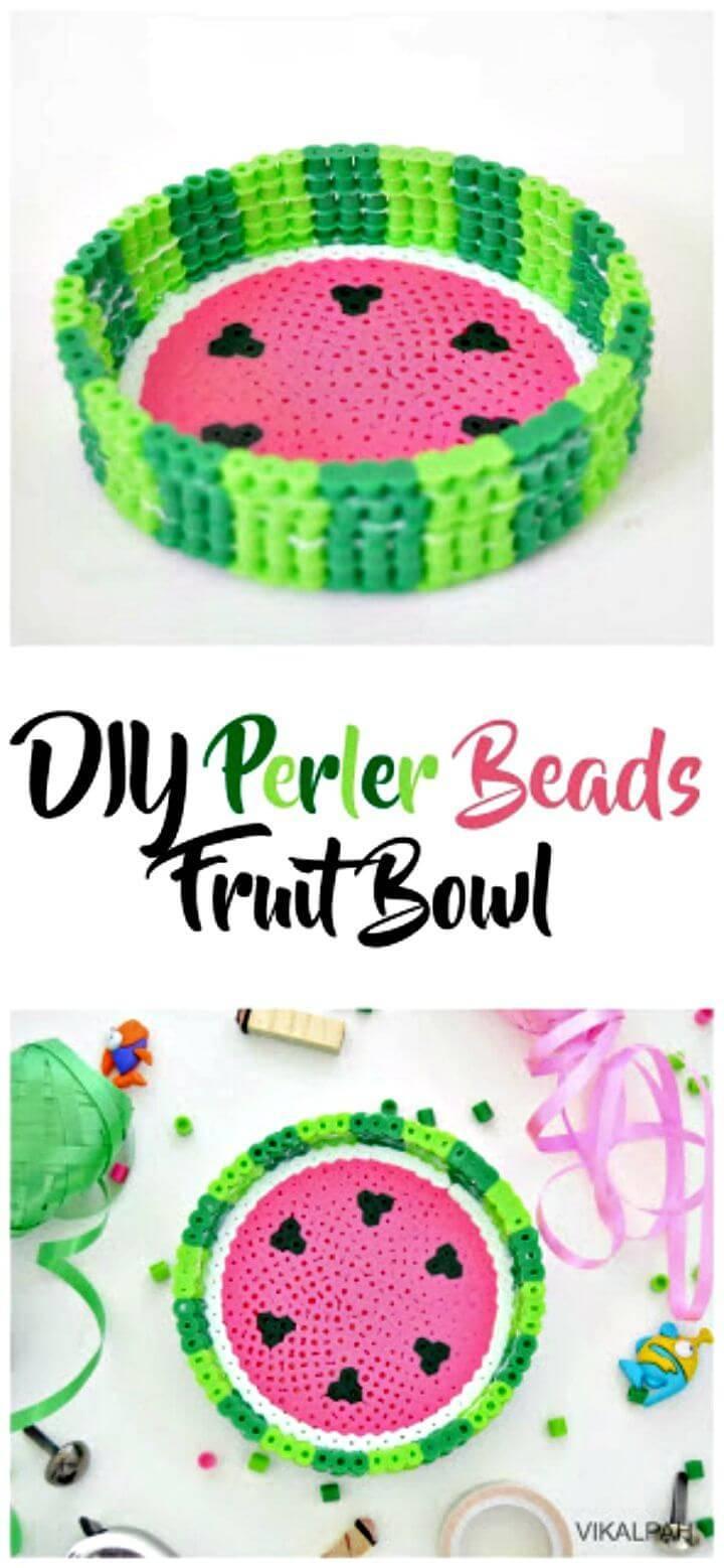 Easy DIY Perler Beads Fruit Bowl
