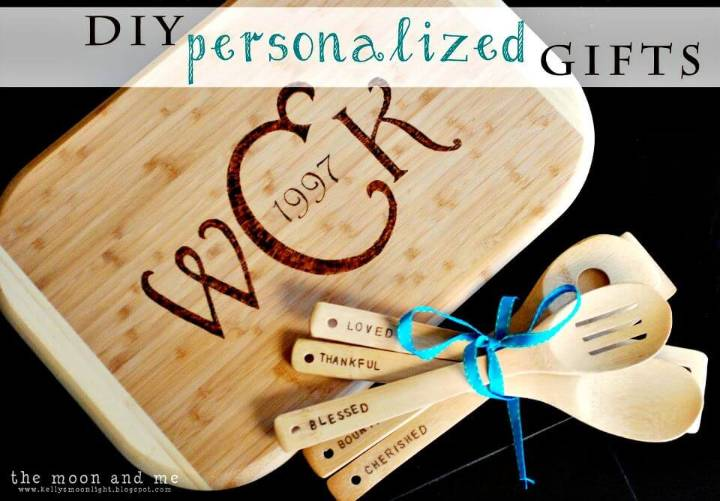 DIY Personalized Cutting Board - Mothers Day Gifts
