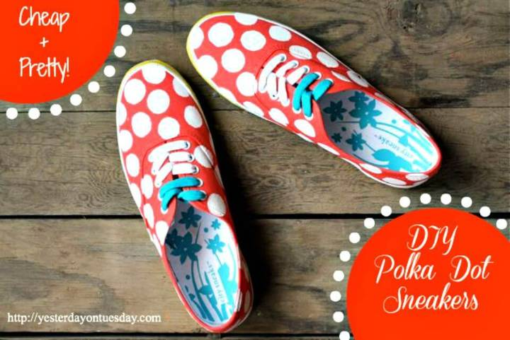 Easy DIY Polka Dot Sneakers