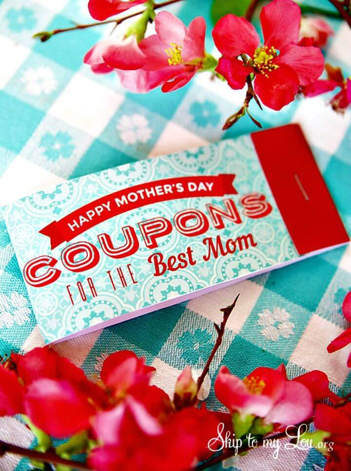 Easy DIY Printable Mother's Day Coupons
