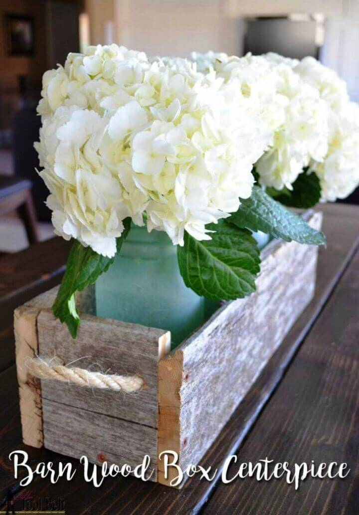 Make Your Own Reclaimed Wood Box Centerpiece