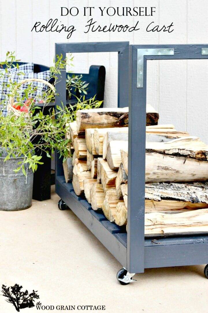 Build Rolling Firewood Cart - Easy to DIY