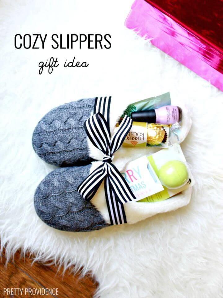 How to DIY Slippers Gift Idea