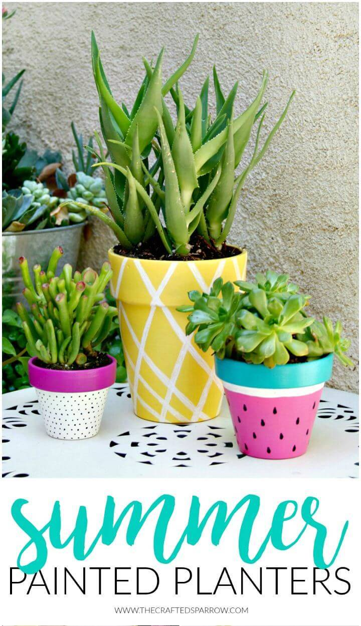 Make Your Own Summer Painted Planters