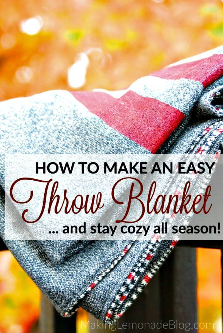 Pretty DIY Throw Blanket Tutorial