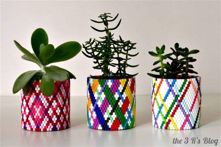 Easy DIY Woven Planter Update
