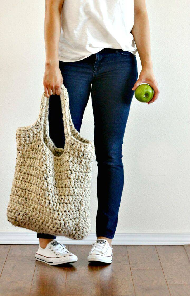 Free Crochet Sturdy Market Tote Pattern - DIY Mothers Day Gifts