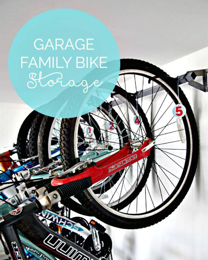 DIY Garage Family Bike Storage