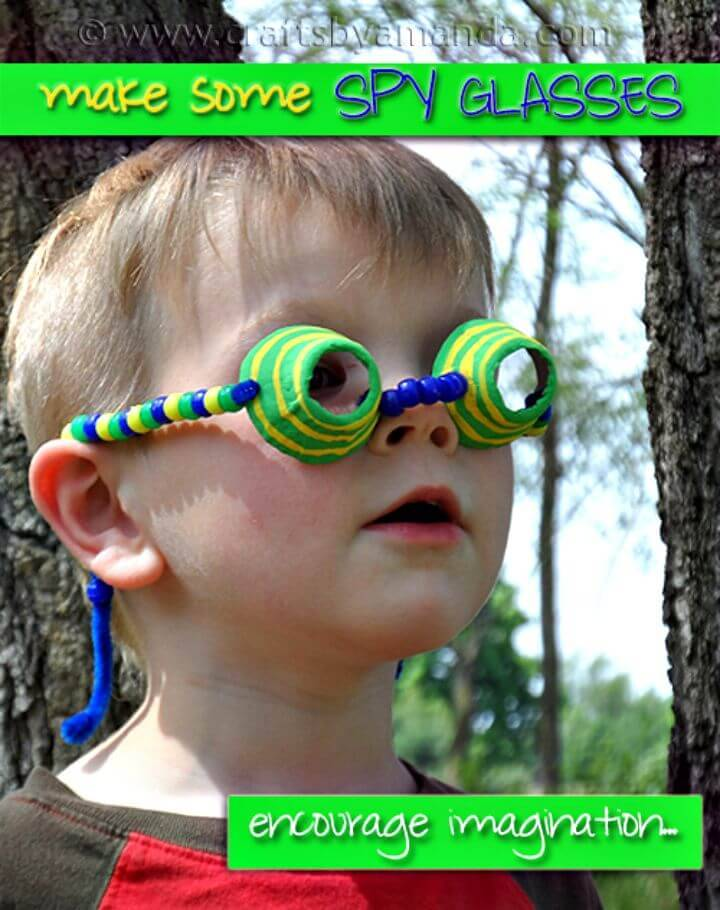 DIY Egg Carton Spy Glasses for Kids