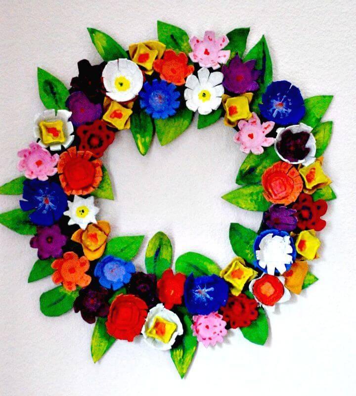 Gorgeous DIY Egg Carton Wreath