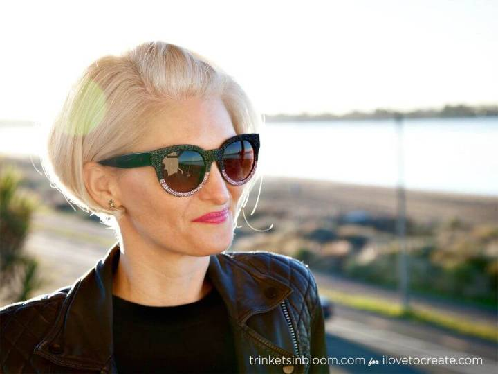 How to Make Glitter Sunglasses - DIY