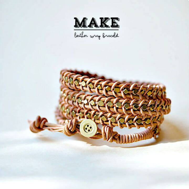Gorgeous DIY Leather Wrap Bracelet