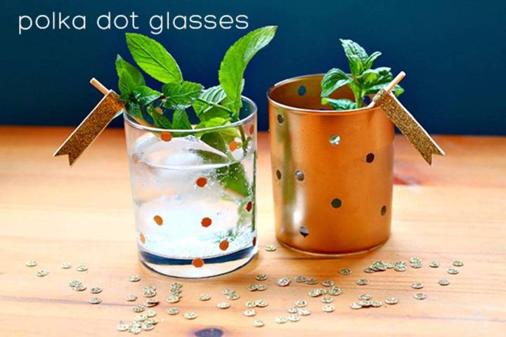 Gorgeous DIY Polka Dot Glasses